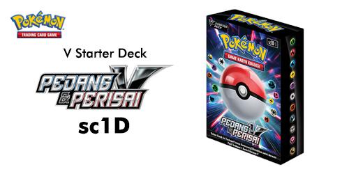 Pokemon TCG Pedang dan Perisai V Starter Deck sc1D