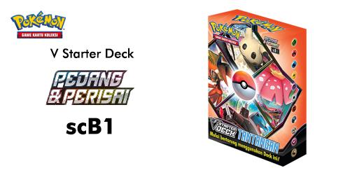 Pokemon TCG Pedang dan Perisai V Starter Deck scB1